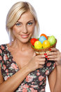 Woman holding Easter eggs Royalty Free Stock Photography