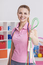 Woman holding jump rope Royalty Free Stock Photo