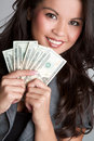 Woman Holding Money Royalty Free Stock Photography