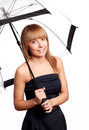 Woman holding umbrella Royalty Free Stock Photography