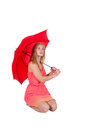 Woman Holding Umbrella Royalty Free Stock Images