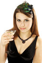 Woman holds Martini Stock Images