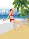 Woman on holiday Royalty Free Stock Images