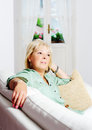 Woman at home Royalty Free Stock Image