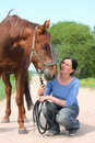 Woman and horse portrait Stock Photography