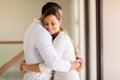 Woman hugging her husband happy women Stock Photography