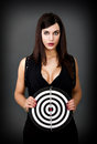 Woman human target gray background Royalty Free Stock Images