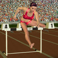 Woman in hurdling Stock Photos