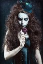 Woman In Image Of Gothic Freak...