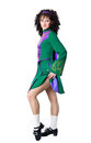 Woman Irish dancer posing Royalty Free Stock Photos