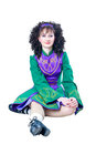Woman irish dancer sitting Royalty Free Stock Photos
