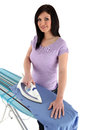Woman ironing Royalty Free Stock Photos