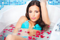 Woman in jacuzzi Royalty Free Stock Photo