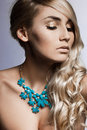 Woman with jewellry Stock Image