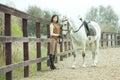 Woman jockey Royalty Free Stock Photo