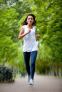 Woman jogging Stock Photography