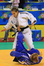 Woman judo Stock Images