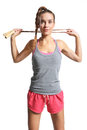 Woman with  jump rope Royalty Free Stock Photo