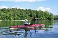 Woman Kayaking on Lake Royalty Free Stock Photo