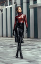 image photo : Woman in latex costume