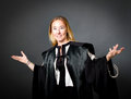 Woman lawyer gesturing Stock Photography