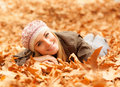 Woman lay on the ground Stock Image