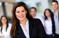 Woman leading business group Royalty Free Stock Photography