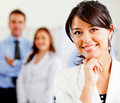 Woman leading a business team Stock Photos