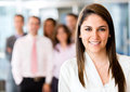 Woman leading business team Royalty Free Stock Photo
