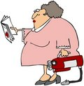 Woman Learning To Use A Fire Extinguisher Royalty Free Stock Images