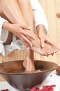 Woman legs in spa Royalty Free Stock Photos
