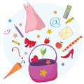 Woman lifestyle bag Royalty Free Stock Photography