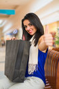 Woman Like Shopping in Mall Royalty Free Stock Photo