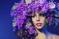 Woman Lilac Flower, Fashion Mo...