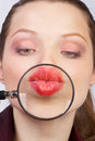 Picture : Woman lips waves hands