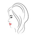 Woman logo Royalty Free Stock Image