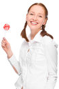 Woman with lolly Royalty Free Stock Photo