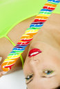 Woman with a lollypop Royalty Free Stock Images