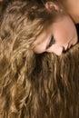 Žena dlouho vlasy