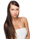 Woman with long straight hair Stock Image