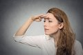 Woman looking away into the future Royalty Free Stock Photo