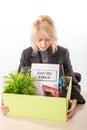 image photo : Woman after loosing job