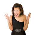Woman loudness Stock Photos