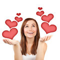 Woman in love Royalty Free Stock Photos