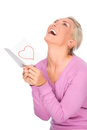 Woman with love letter Royalty Free Stock Photos