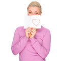 Woman with love letter Royalty Free Stock Image