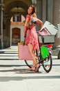 image photo : Woman make shopping bike