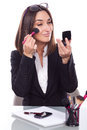 Woman on the make up work business Stock Photos