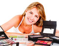 Woman with makeup Royalty Free Stock Image