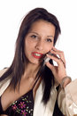 Woman making a call Royalty Free Stock Photos